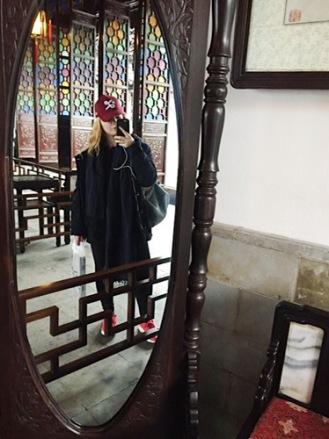 Ancient mirror selfie